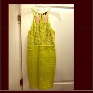 Lime green bodycon dress